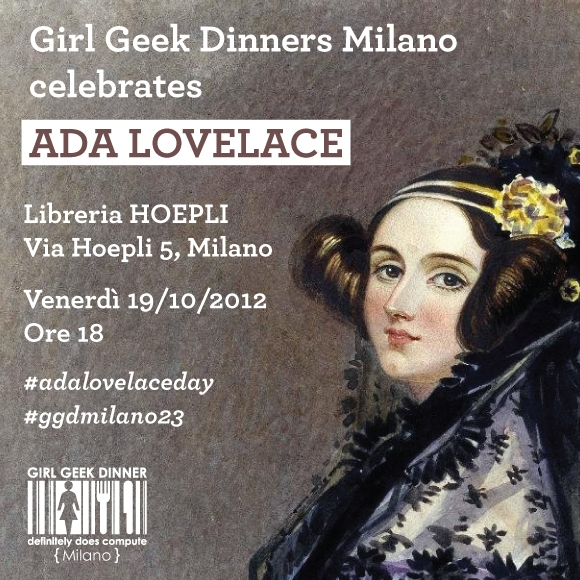 GGD Milano celebrates Ada Lovelace