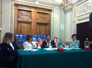 Da sinistra: Roberta Cocco, Monica Mason, Fiorella De Cindio, Ornella Fouillouze